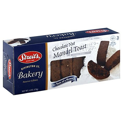Streits Chocolate Nut Mandel Mini Loaf - 6 Oz
