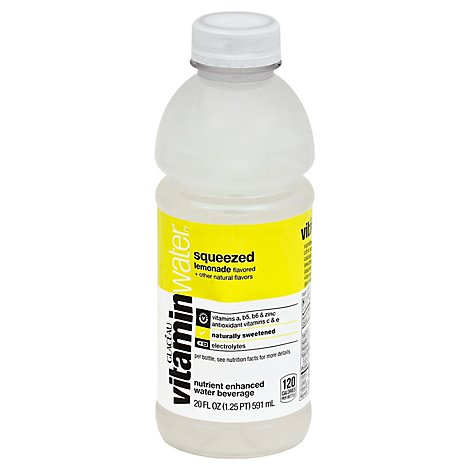 vitaminwater Water Beverage Nutrient Enhanced Squeezed Lemonade - 20 Fl. Oz.