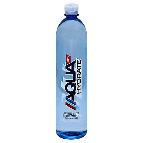 AQUAhydrate Enhanced Water with Electrolytes PH9+ - 1 Liter