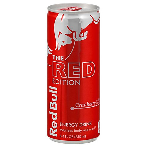 Red Bull Energy Drink The Red Edition Cranberry - 8.4 Fl. Oz.