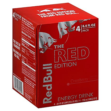 Red Bull Energy Drink The Red Edition Cranberry Can - 4-8.4 Fl. Oz.