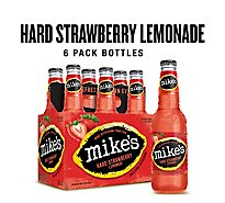 Mikes Hard Beverage Cool Hard Refreshing Lemonade Strawberry Bottle - 6-11.2 Fl. Oz.