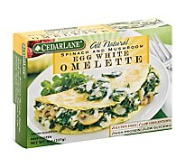 Cedarlane All Natural Omelette Egg White Spinach And Mushroom - 8 Oz