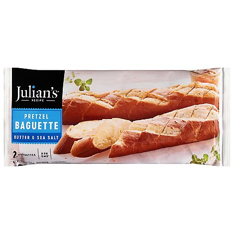 Julians Pretzel Baguette - 11.3 Oz