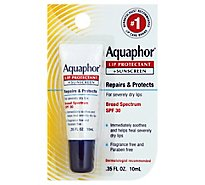 Aquaphor Lip Repair And Protect Broad Spectrum SPF 30 - 0.35 Fl. Oz.