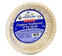 Wholly Wholesome Pie Shells Organic Traditional 9 Inch - 14 Oz