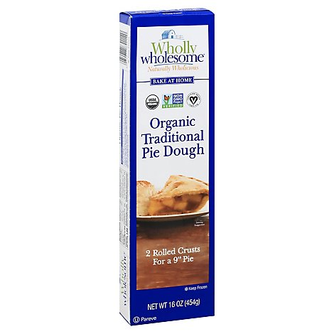 Wholly Wholesome Pie Dough Organic 9 Inch 2 Count - 16 Oz