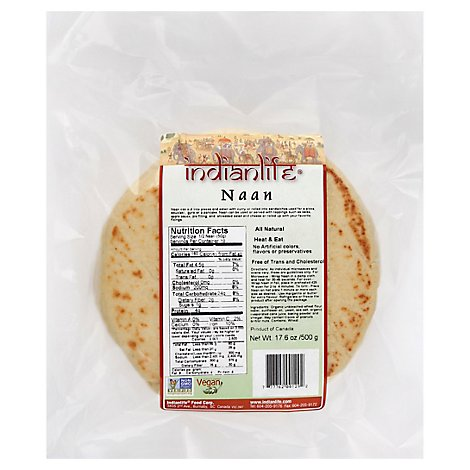 Indianlife Foods Naan Plain - 17.6 Oz