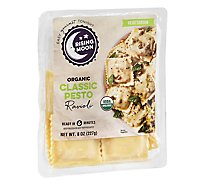 Rising Moon Organics Basil Asiago & Pinenut Pesto Ravioli - 8 Oz