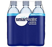 smartwater Vapor Distilled Water - 6-16.9 Fl. Oz.