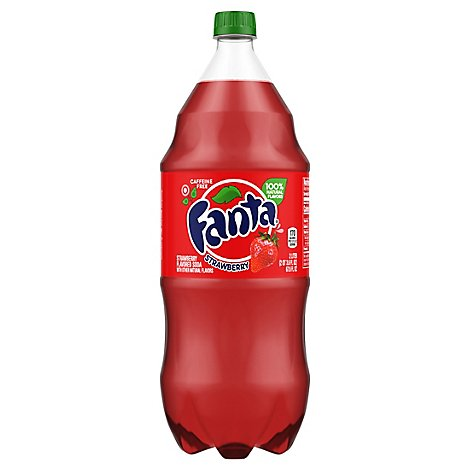 Fanta Soda Pop Strawberry Flavored - 2 Liter