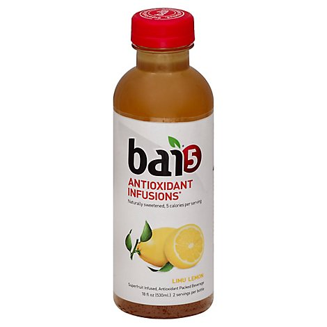 bai Antioxidant Infusion Beverage Limu Lemon - 18 Fl. Oz.