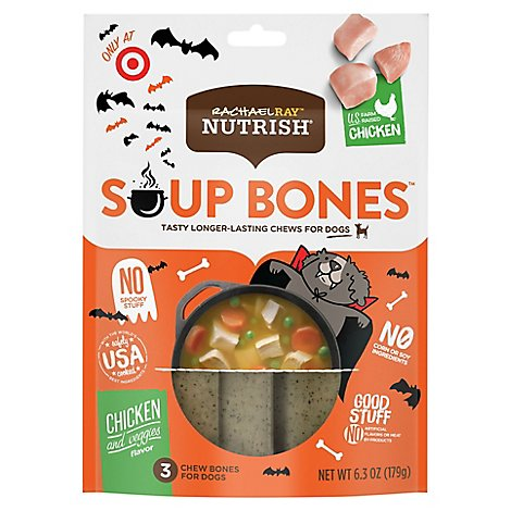Rachael Ray Nutrish Chew Bones for Dogs Chicken and Veggies Flavor 3 Count - 6.3 Oz