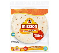 Mission Tortillas Flour Soft Taco Fat Free Medium Super Soft Bag 20 Count - 35 Oz