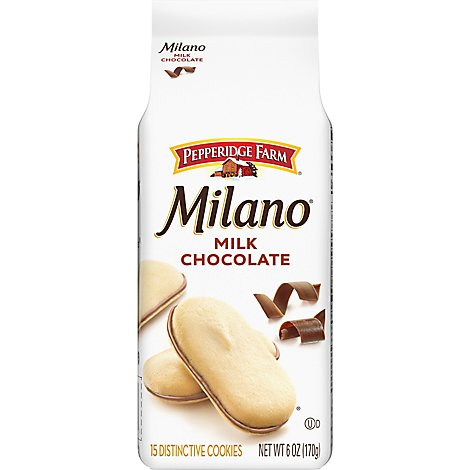 Pepperidge Farm Milano Cookies Milk Chocolate - 6 Oz