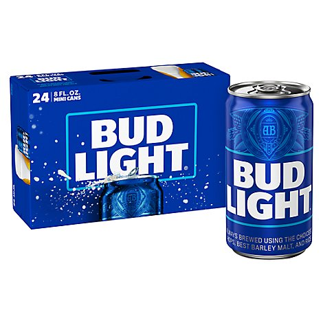 Bud Light Beer Cans - 24-8 Fl. Oz.