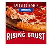 DIGIORNO Pizza Original Rising Crust Pepperoni Frozen - 27.5 Oz