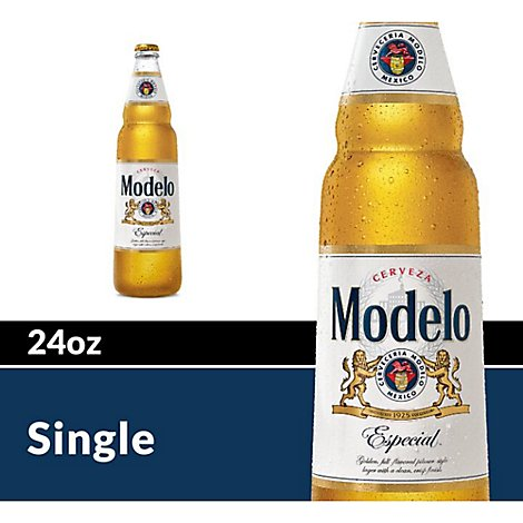 Modelo Especial Beer Mexican Lager 4.4% ABV Bottle - 24 Fl. Oz.