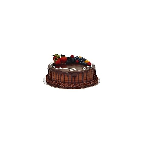 Bakery Cake 10 Inch 2 Layer Chocolate - Each (24 hour Notice Required)