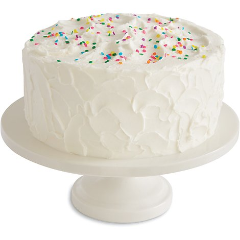 Bakery Cake White 10 Inch 2 Layer - Each
