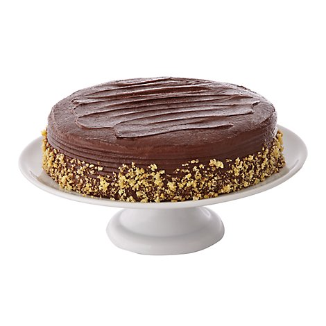 Bakery Cake 10 Inch 1 Layer Chocolate - Each
