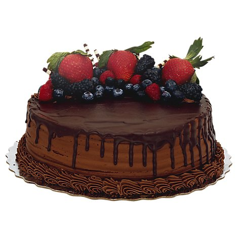 Bakery Cake 10 Inch 2 Layer Chocolate Raspberry - Each