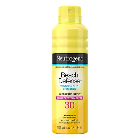 Neutrogena Beach Defense Sunscreen Spray Water + Sun Protection Spf 30 - 6.5 Oz