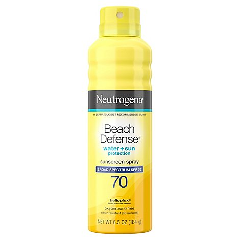 Neutrogena Beach Defense Sunscreen Spray Water + Sun Protection Spf 70 - 6.5 Oz
