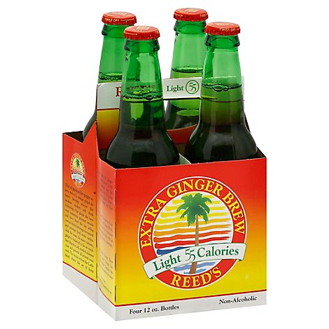 Reeds Soda Ginger Brew Extra Light 55 Calorie - 4-12 Fl. Oz.