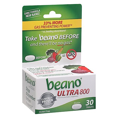 Beano Food Enzyme Tablets - 30 Count