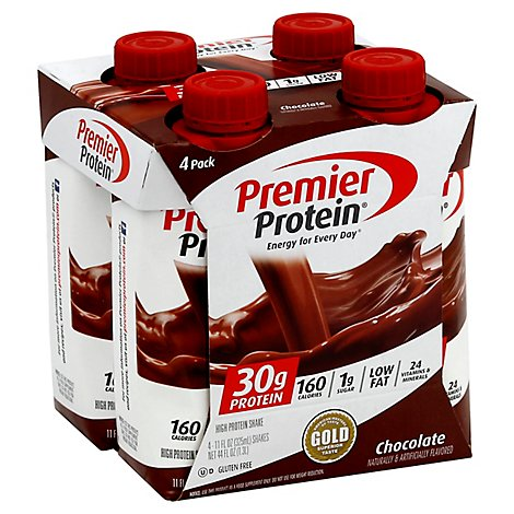 Premier Protein Energy For Everyday Protein Shake Chocolate - 4-11 Fl. Oz.