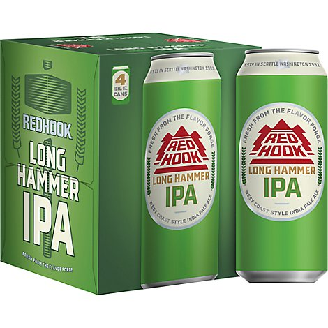 Redhook Long Hammer IPA - 4-16 Fl. Oz.