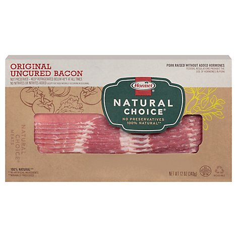 Hormel Natural Choice Bacon Uncured Original - 12 Oz