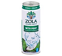 Zola Coconut Water Natural With Pulp - 17.5 Fl. Oz.