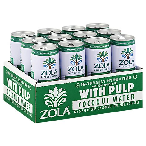 Zola Coconut Water Natural With Pulp - Case