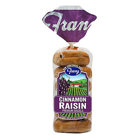 Franz New York Bagels Cinnamon Raisin - 18 Oz