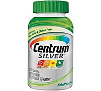 Centrum Silver Multivitamin/Multimineral Adults 50+ Tablets - 220 Count