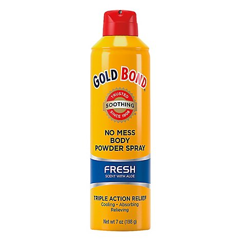 GOLD BOND Medicated No Mess Powder Spray Fresh - 7 Oz
