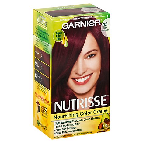 Garnier Nutrisse Nourishing Color Creme Deep Burgundy 42 - Each