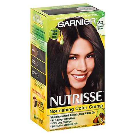 Garnier Nutrisse Nourishing Color Creme Darkest Brown 30 - Each