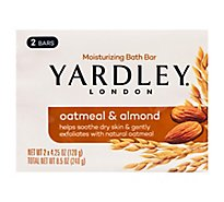 Yardley Oatmeal & Almond Bar Soap - 2-4.25 Oz