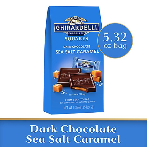 Ghirardelli Dark Chocolate Squares Sea Salt Caramel - 5.32 Oz
