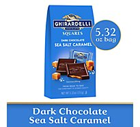 Ghirardelli Chocolate Squares Dark Chocolate Sea Salt Caramel - 5.32 Oz