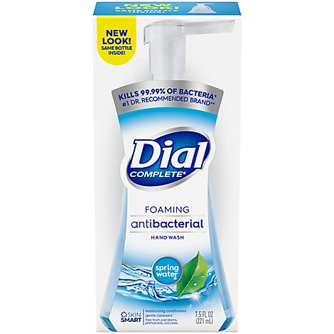 Dial Complete Hand Soap Foaming Antibacterial Gentle On Skin - 7.5 Fl. Oz.
