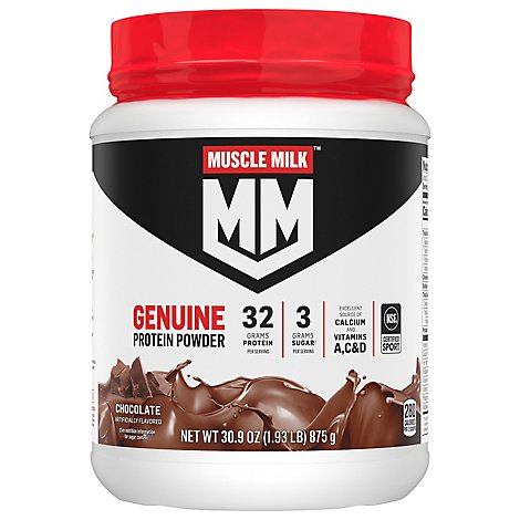 Muscle Milk Protein Powder Genuine Chocolate - 30.9 Oz