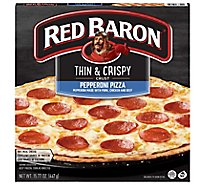 Red Baron Pizza Thin & Crispy Pepperoni - 15.77 Oz