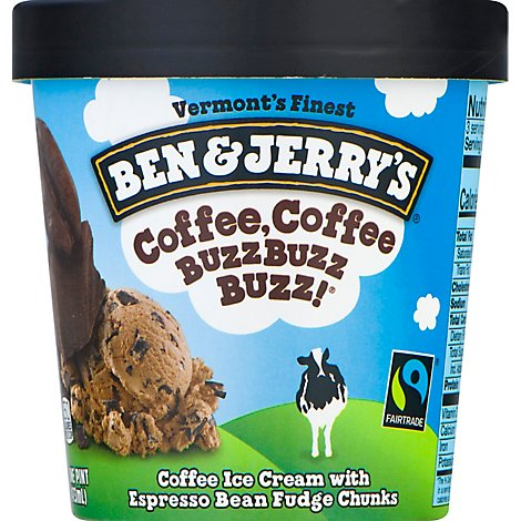 Ben & Jerrys Ice Cream Coffee Coffee BuzzBuzzBuzz! 1 Pint - 16 Oz