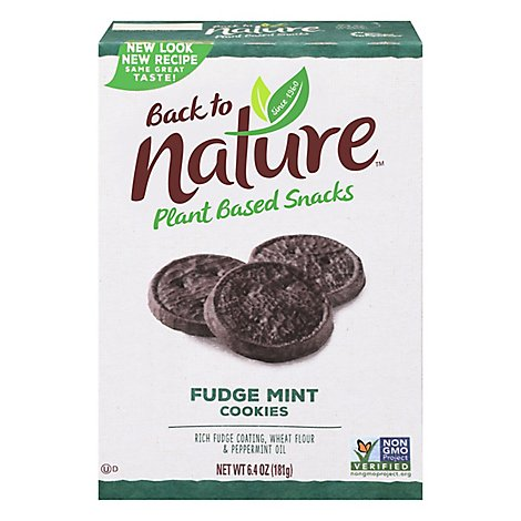 back to NATURE Cookies Fudge Mint - 6.4 Oz