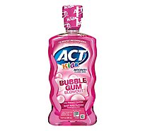 ACT Kids Fluoride Rinse Anticavity Bubble Gum Blowout - 16.9 Fl. Oz.