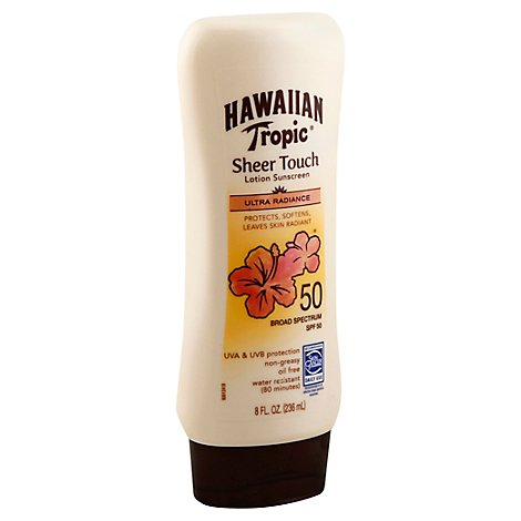 Hawaiian Tropic Sheer Touch Lotion Sunscreen 50 SPF - 8 Fl. Oz.
